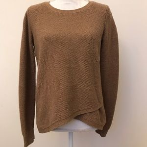 Madewell Brown Knit Asymmetrical Sweater Small
